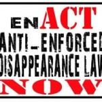 a call of the enactment of anti-enforced disappearance law